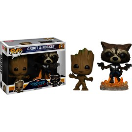 Guardians Of The Galaxy Figurina Pack Young Groot e Rocket Raccoon FUNKO