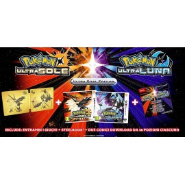 POKEMON ULTRALUNA E ULTRASOLE STEELBOOK LIMITED
