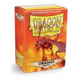 BUSTE PROTEGGI CARD YUGIOH 60 PEZZI ORANGE DRAGON SHIELD