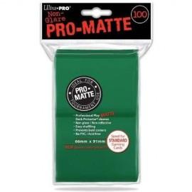 PORTA CARD 100 PEZZI verde standard matte ULTRA PRO