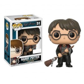 Harry Potter With Firebolt e Feather Exclusive FUNKO